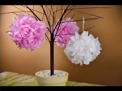 manualidades navide241as faciles de hacer c 243 mo hacer pompones de papel de china manualidades f 225 ciles