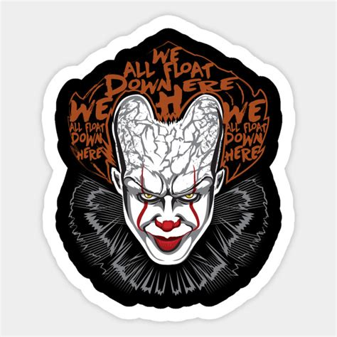 Pennywise Sticker pennywise pennywise horror sticker teepublic