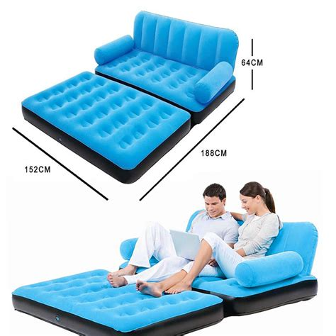 sofa sleeper inflatable mattress inflatable daybed lounger airbed pull out sofa couch