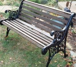 Garden Bench Wrought Iron And Wood diy how to restore a cast iron and wood garden bench to be gardens and other