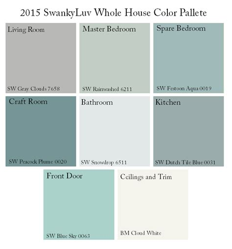 Whole House Color Schemes | whole house color scheme again swankyluv