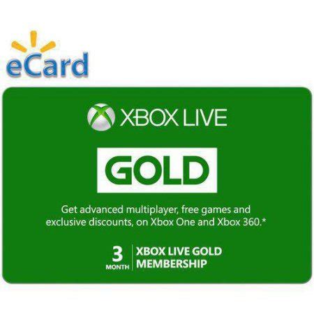 discount vouchers xbox live gold 24 99 was 49 98 xbox live 3 month gold membership code