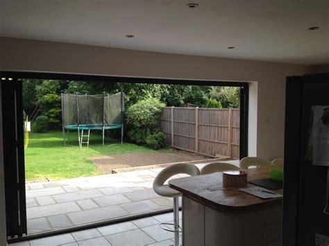 Garage Door Design completed extension porch and patio in horley wmd building
