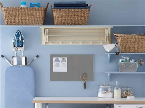 inexpensive diy shelf laundry room storage ideas