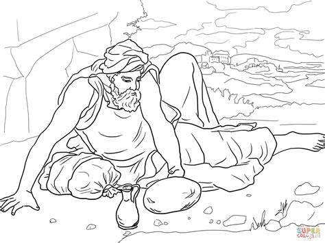 free bible coloring pages elijah elijah in the wilderness coloring page free printable