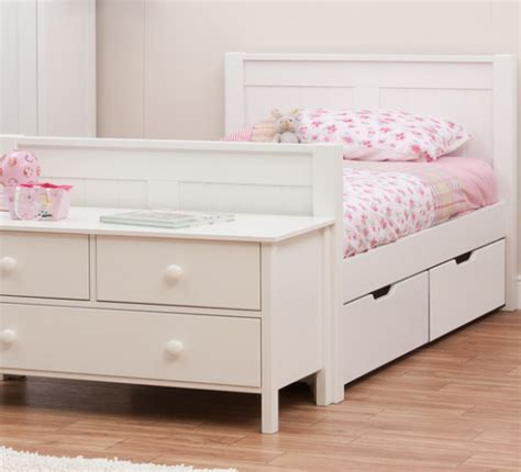 bed with drawers underneath south africa classic single bed with underbed drawers by stompa