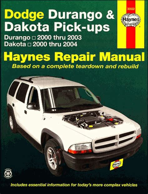 2004 2006 dodge durango factory service diy repair manual free p dodge durango dakota 2000 2004 repair manual haynes 30022