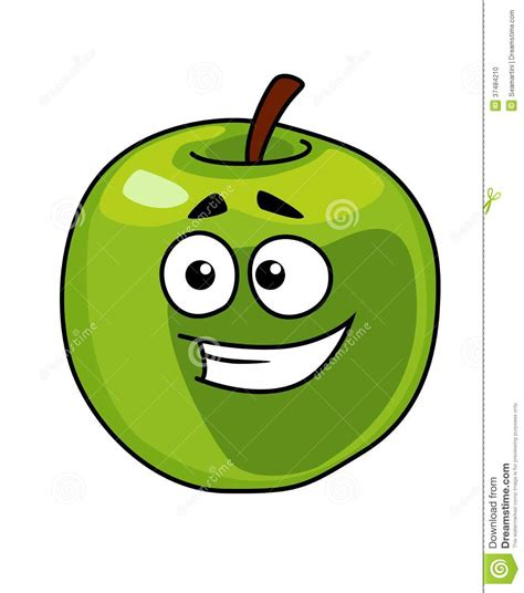 happy green color happy smiling healthy green apple stock photo image