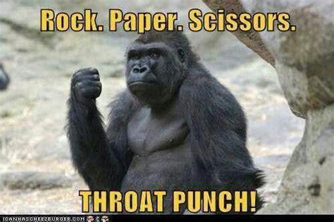 Funny Gorilla Meme - throat punch thursday laughing box p pinterest