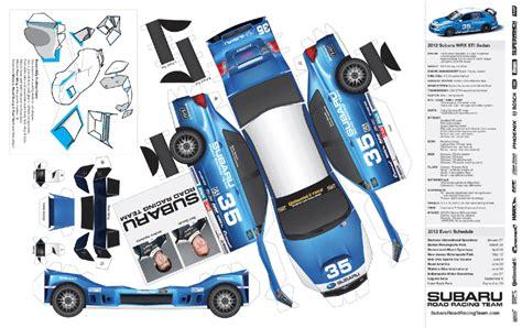 How To Make A Paper Race Car - subaru car papercraft subaru oragami and