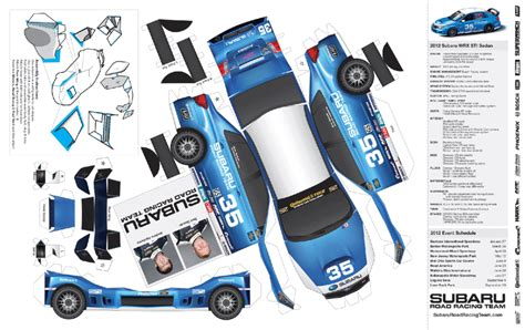 subaru car papercraft subaru oragami and