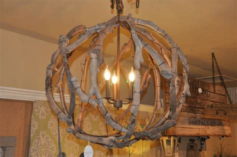 First Fruit Collection Driftwood Globe Light Fixture Driftwood Light Fixtures
