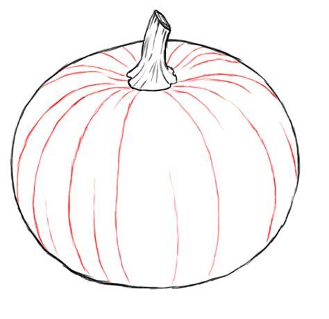 pumpkin drawing how to draw pumpkin