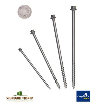 Sleeper Screws by Pro Carpenters Mate Hex Screws Pack Of 250 Chiltern Timber