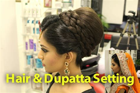 tutorial indian pakistani asian bridal hair style youtube