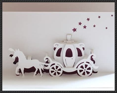 pop up cinderella carriage card template walt disney cinderella carriage pop up card free paper