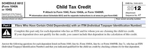 Child Credit Tax Forms Irs Additional Child Tax Credit Worksheet 2012 Here S How To Claim The Federal 30 Tax Credit