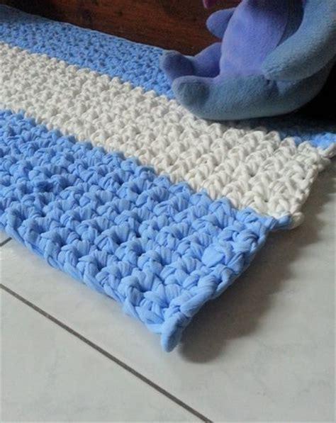 tappeti crochet tappeto rettangolare in fettuccia a crochet 51 per