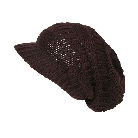 womens chunky knit slouchy beanie beret by ctm
