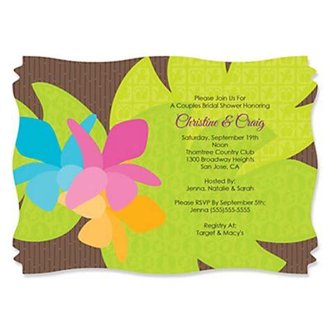 luau wedding shower invitations luau personalized bridal shower invitations