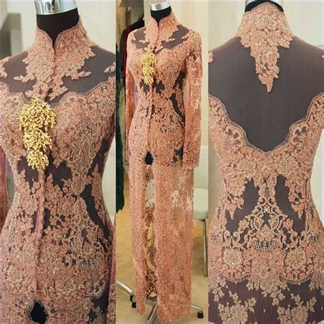 Brokat Brukat Bahan Kain Kebaya Dress Black Series kebaya modern by vera international kebaya batik modern