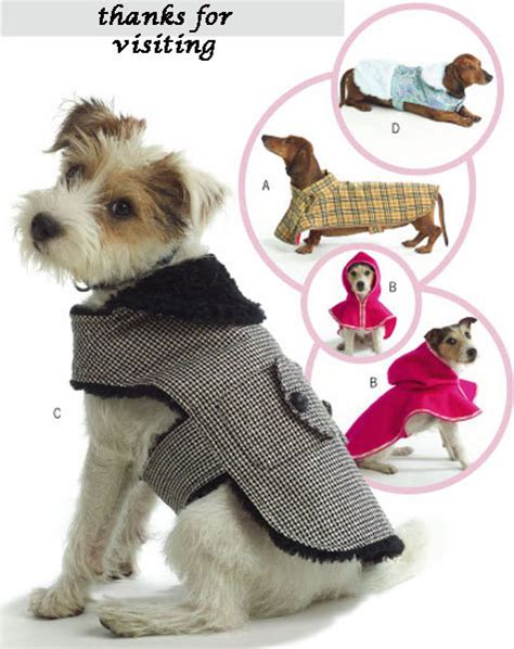 free patterns for dog coats to sew dog coat pet sewing pattern four styles of dogs coats