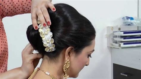 indian asian bridal hairstyle tutorial youtube