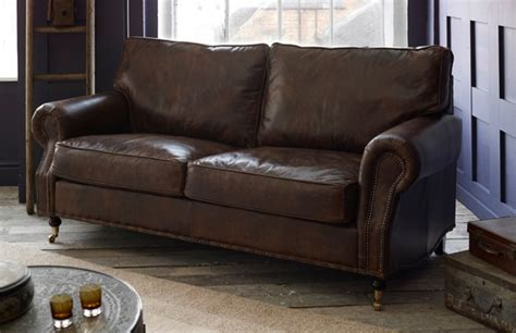 Arlington Studded Leather Sofa Leather Sofas Leather Sofas Made In Uk