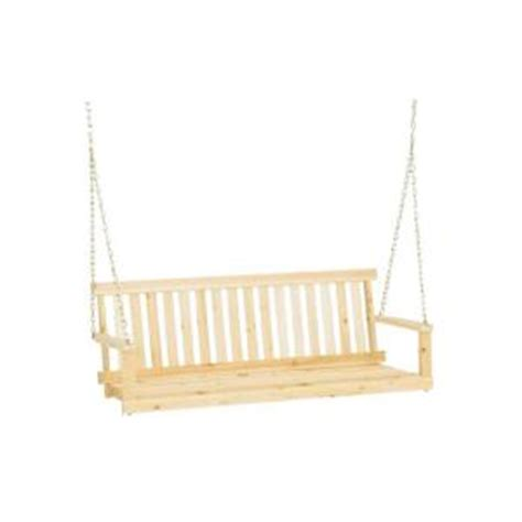 front porch swings home depot jack post jennings 4 ft traditional wood porch patio swing h 24 the home depot
