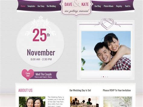 wedding site template 20 best wedding website templates css html