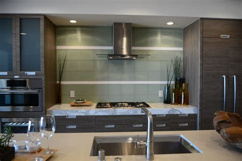 Glass Top Kitchen Island by K Bb Collective Nahb New American Home Makes Statement