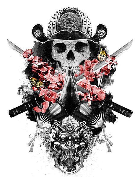 japanese symbols and samurai warriors tattoos on back