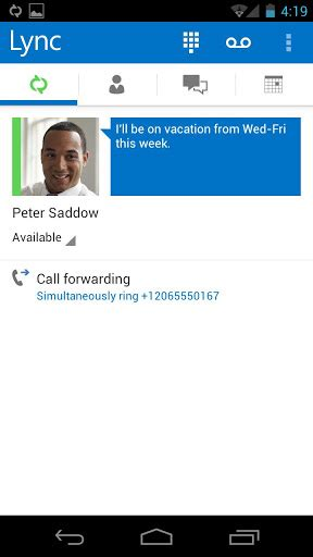 microsoft lync 2013 for android microsoft s lync 2013 arrives on android