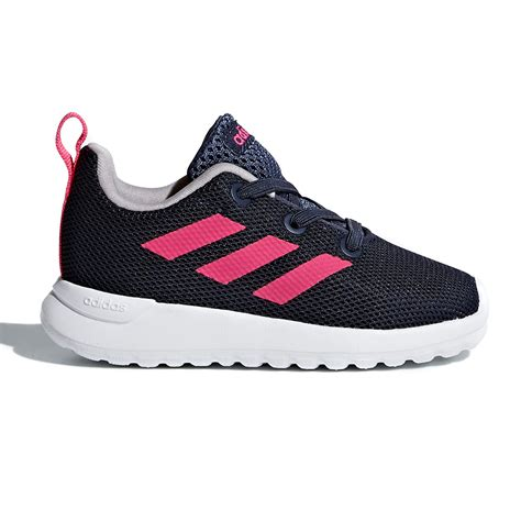 adidas lite racer clean toddler running shoes trace blue shock pink white sportitude