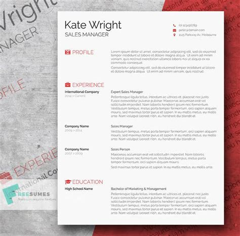 attractive resume templates free word 50 beautiful free resume cv templates in ai indesign psd formats