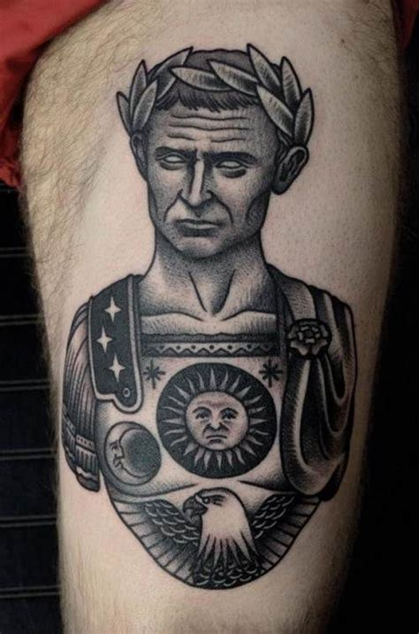 julius caesar tattoo julius caesar julius caesar portrait by