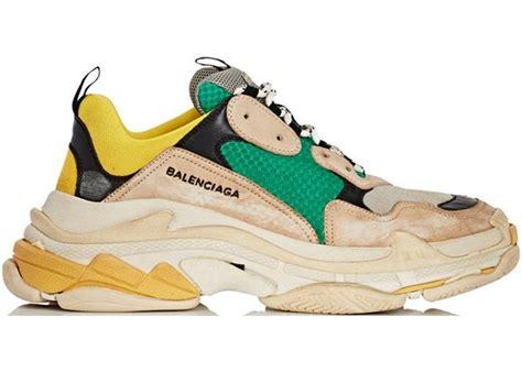 balenciaga s beige green yellow 2018 reissue undefined