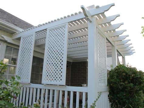 lattice pergola roof pvc lattice on a pergola roof page 2 decks fencing