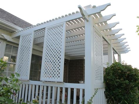 pvc lattice on a pergola roof page 2 decks fencing
