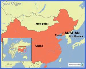 Wall Murals Maps anshan travel map travel holiday vacations