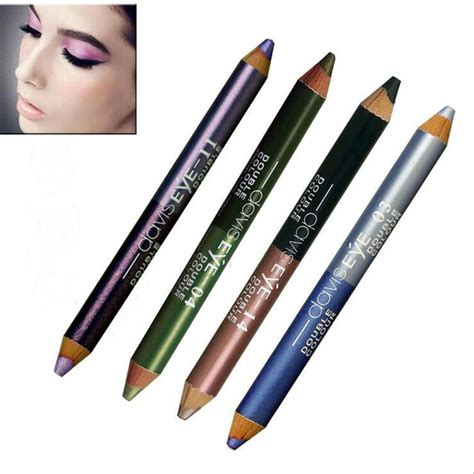 Eyeliner 2 Color waterproof eyeliner pencil color 2 in 1 make up comestics pearl white black blue