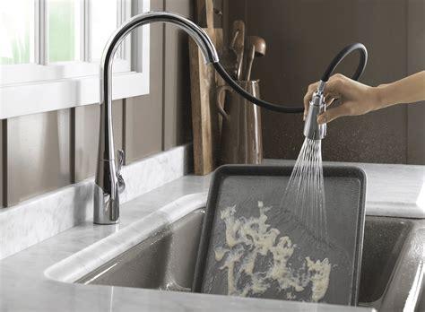 kohler touch kitchen faucet touch activated kitchen faucet kohler