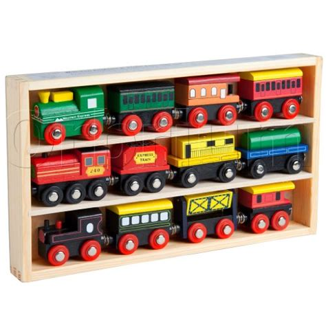 brio train cars 12 pcs wooden engines train cars collection fits thomas
