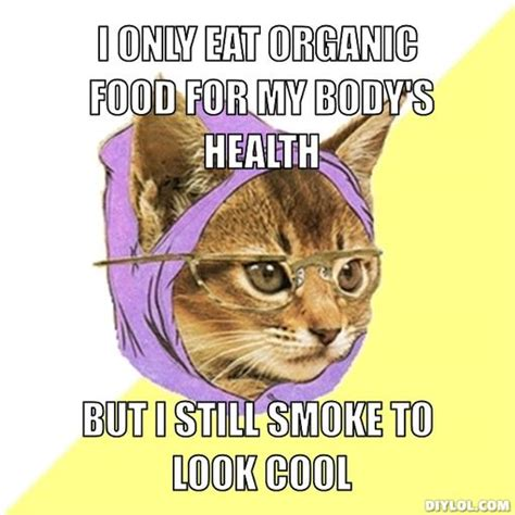Hipster Kitty Meme - organic food memes image memes at relatably com