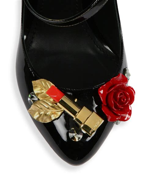 Dg Dolce And Gabbana Sandie Linen And Patent Tote by Dolce Gabbana Lipstick Heel Patent Leather