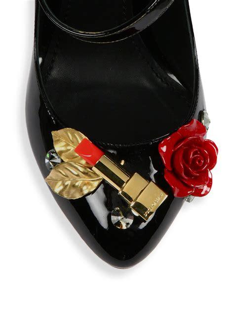 Dolce Gabbana Perspex Patent Dorsay by Dolce Gabbana Lipstick Heel Patent Leather