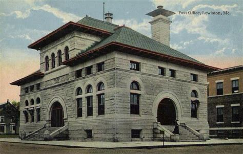 Rockland Post Office by File Post Office Lewiston Me Jpg Wikimedia Commons