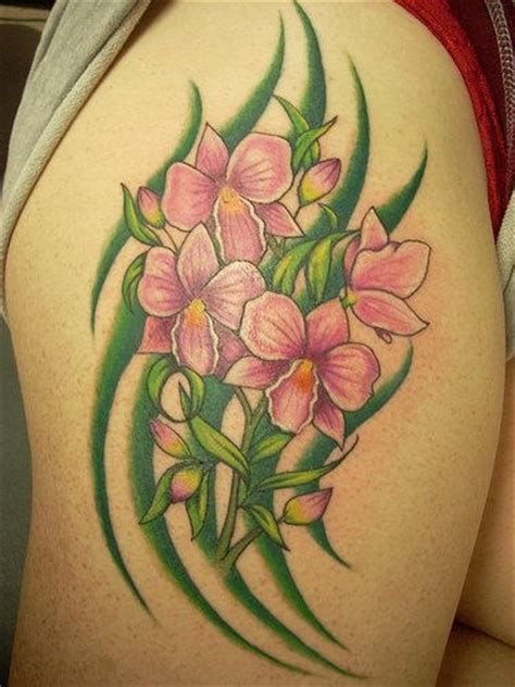 orchid tribal tattoos orchid tattoos page 2