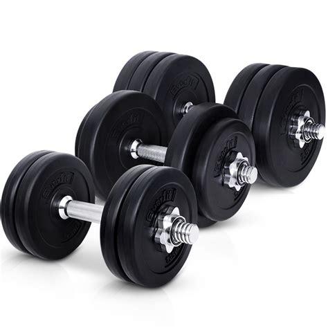 Plate Dumbbell dumbbell set everfit weight dumbbells plates home fitness exercise adjust ebay