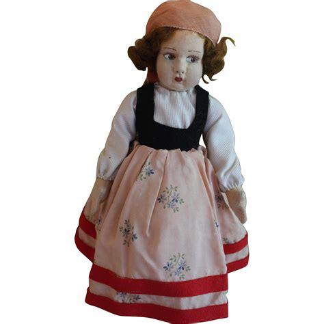 lenci type doll pretty 12 inch lenci type felt doll in provincial
